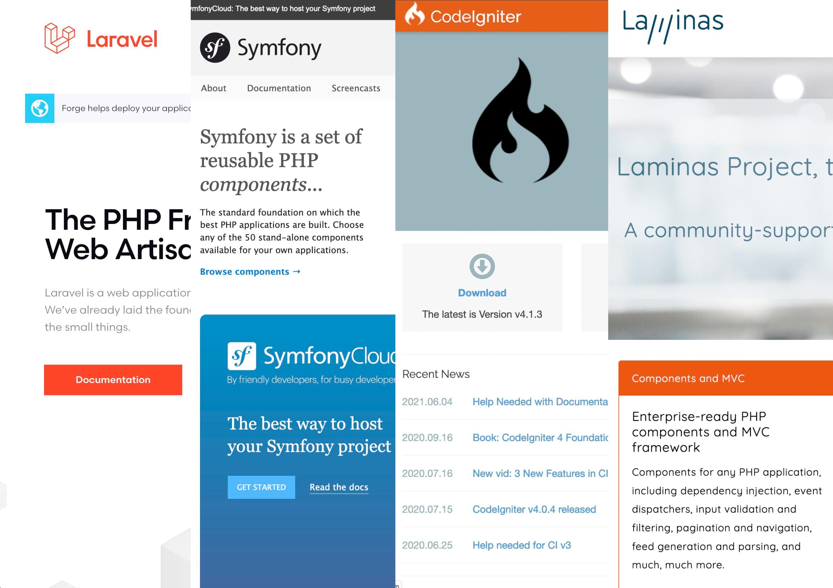 Compatibilidad frameworks, Laravel, Symfony
